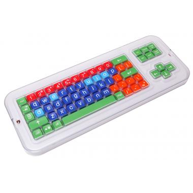 Клавиатура адаптированная с крупными кнопками + пластиковая накладка, разделяющая клавиши, беспроводная