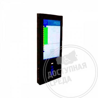 Информационный настенный терминал с индукционной системой и источником бесперебойного питания 1630x650x150 мм