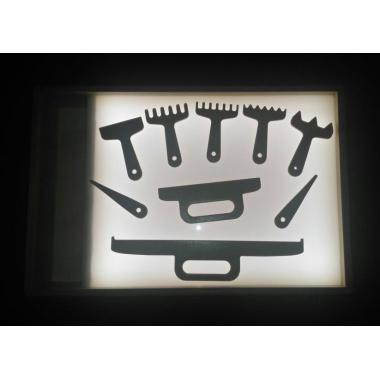 Световой модуль для рисования песком  цветная подсветка, отсек для песка, набор лопаток (9 шт)