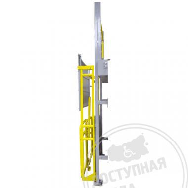 Вертикальный подъемник ПВт-ШР со складывающимся козырьком и съемным пультом 3000x1130x250мм