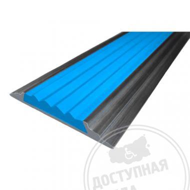 Алюминиевая полоса с резиновой вставкой, без технологических отверстий под крепёж, 46х5 мм цветная