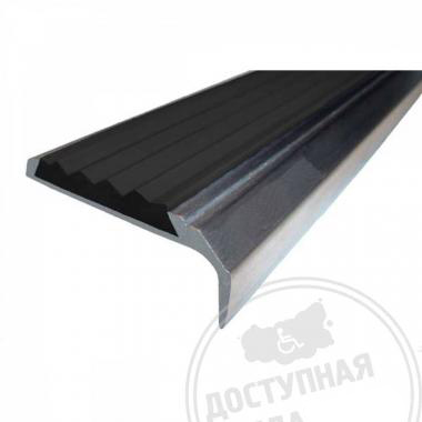 Алюминиевый угол-порог, без технологических отверстий под крепёж, без покрытия, 42х7х23 мм