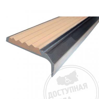 Алюминиевый накладной угол-порог на саморезах, с технологическими отверстиями под крепёж 42х7х23 мм