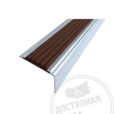 Алюминиевый угол-порог без покрытия с цветной вставкой, 38x5.5 мм