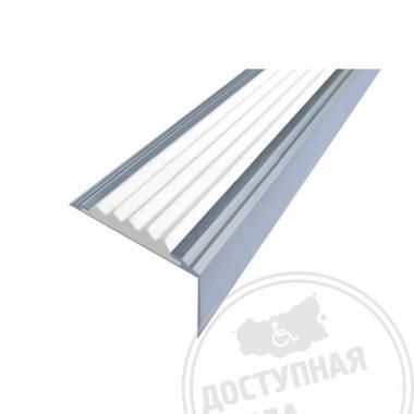 Алюминиевый угол-порог, без технологических отверстий под крепёж, без покрытия, 38х5,5х20 мм цветной
