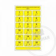 Набор тактильных наклеек для маркировки кнопок лифта №2 180 x 105мм