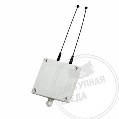 Усилитель сигнала для двухканальной системы вызова УС-2 100х100х35мм